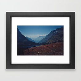 Foggy Mountain Path Framed Art Print
