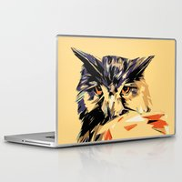 owl Laptop & iPad Skins featuring Owl by Nuam
