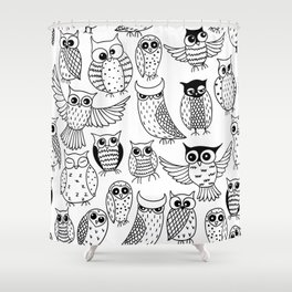 Funny owls Shower Curtain