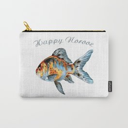 Happy Norooz Shubunkin Goldfish Persian New Year Carry-All Pouch