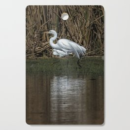 Great and Snowy Egrets, No. 3 Cutting Board