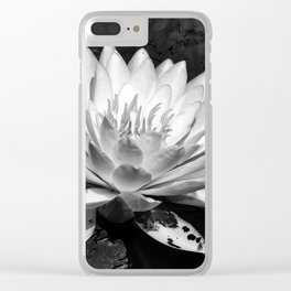 Water Lilly Bloom Clear iPhone Case