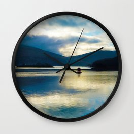 View over the Loch Wall Clock