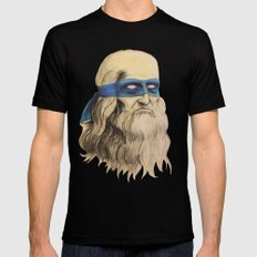 Leo TMNT MEDIUM Black Mens Fitted Tee