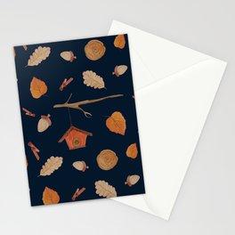 Bird House Fall Woodland Stationery Cards