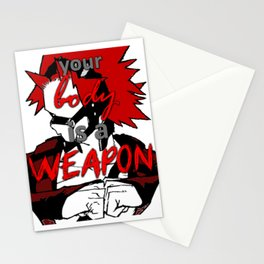 your body is a WEAPON Stationery Cards