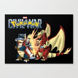 Pokémon: Civil War Canvas Print