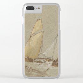 "J.M.W. Turner ""Shipping"" Clear iPhone Case"