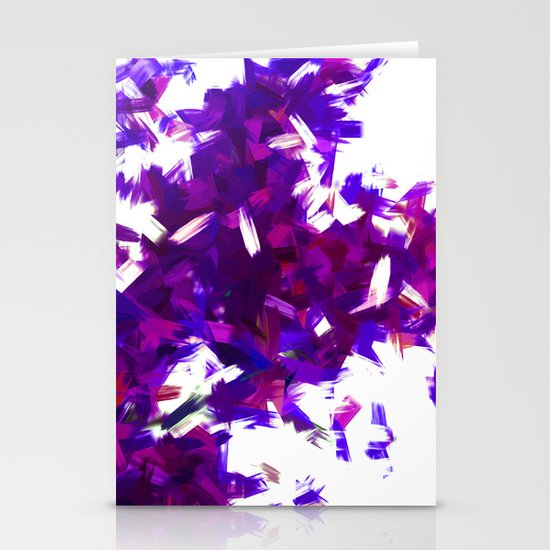 BLOSSOMS - PURPLE BLUE Stationery Cards