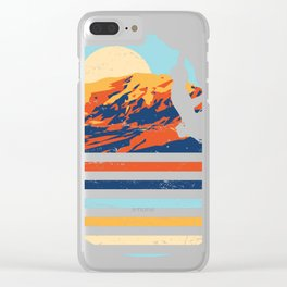 Minimalist Rock Climbing Bouldering Gift design for Rockers Clear iPhone Case