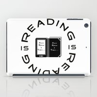 reading iPad Cases featuring Reading is Reading by Marina Bonomi