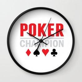 Poker Champion Card Game Wall Clock