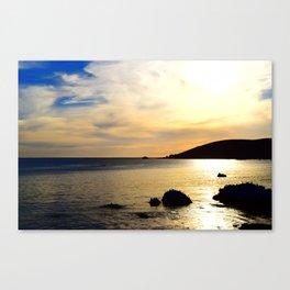 yellow sunset Canvas Print