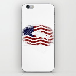 Patriotic Fisherman Walleye Fishing American Flag iPhone Skin