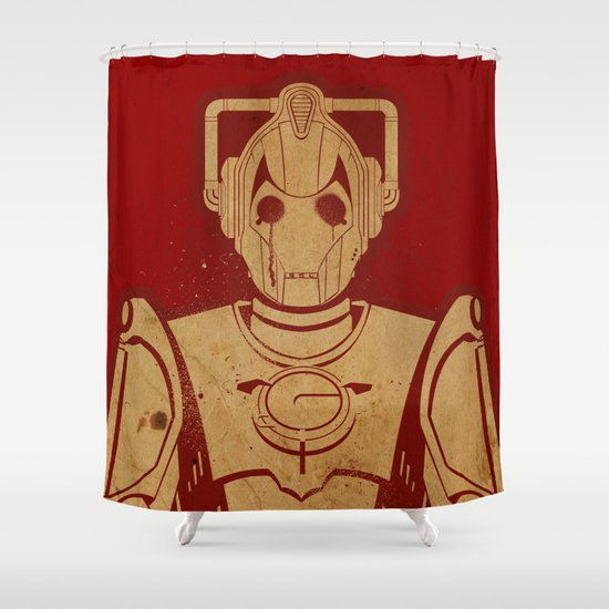 Cyber Shower Curtain