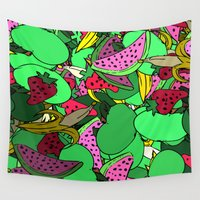 fruit Wall Tapestries featuring Fruit by Marie Mars