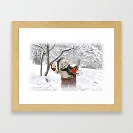 Rucus Studio Snow Day! Snowman Framed Art Print