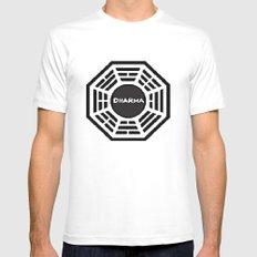 Dharma Initiative White MEDIUM Mens Fitted Tee