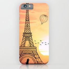 Sunset Eiffel Tower iPhone Case