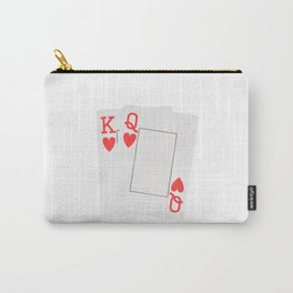 Two Hearts blank playing cards Carry-All Pouch