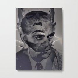 THE MONSTER WITHIN(Boris Karloff/Frankenstein) Metal Print