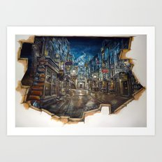 Breach to Diagon Alley Art Print