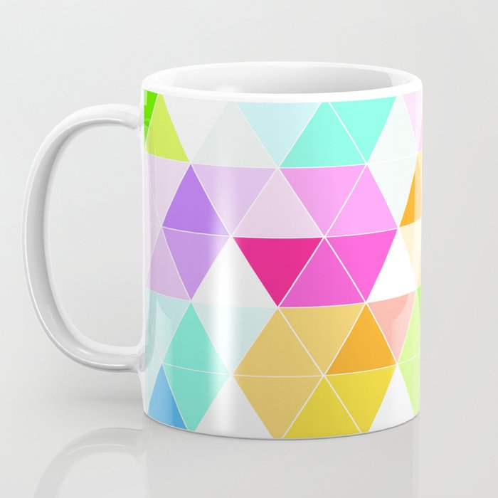 Colorful Triangle Mosaic Coffee Mug