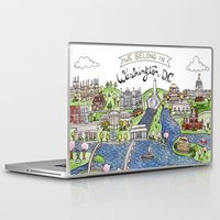 washington dc Laptop & iPad Skins featuring Washington DC by Brooke Weeber