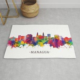 Managua Nicaragua Skyline Rug