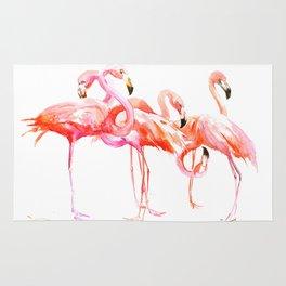 Flamingo design, flamingo art, flangos, pink flamingos bird design, Rug