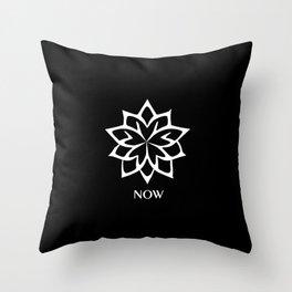 BLACK AND WHITE LOTUS FLOWER NOW  Throw Pillow
