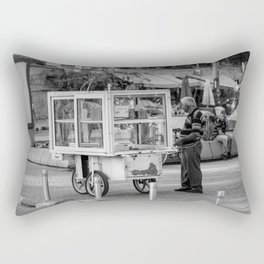 Old man selling sweets in Occupied Nicosia, Cyprus Rectangular Pillow