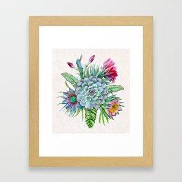 Exotic flower garden Framed Art Print