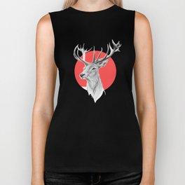 Deer | red Biker Tank
