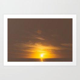 Vintage Sunset Art Print