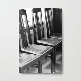 chairs Old Metal Print