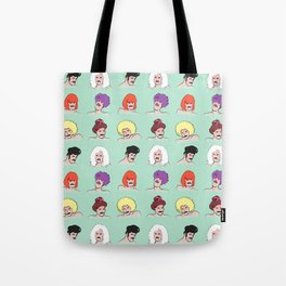 Moustaches and Wigs (pattern) Tote Bag