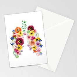Floral Lungs Stationery Cards