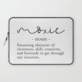 Moxie Definition - Minimalist Black Laptop Sleeve