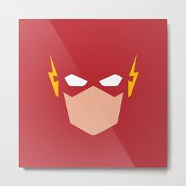 Flash Superhero Metal Print