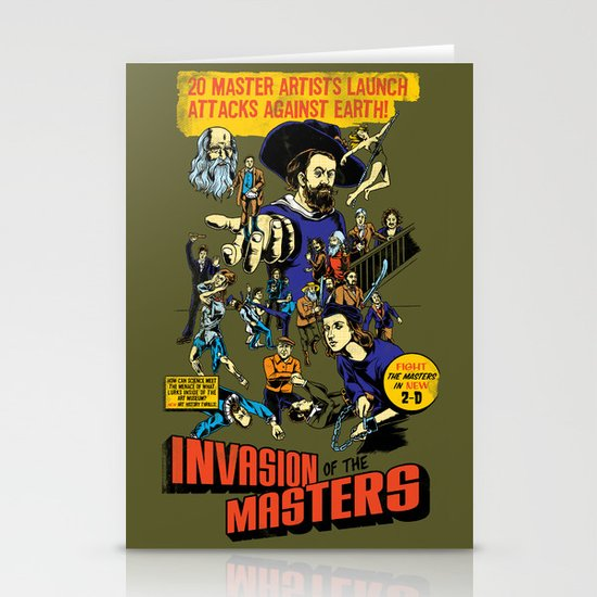 Invasion of the Masters! Stationery Cards