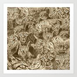 Catrina in Sepia Art Print