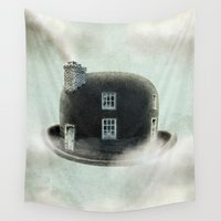magritte Wall Tapestries featuring Dreamer by Eric Fan