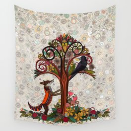 fox and crow Wall Tapestry