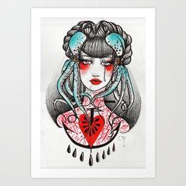 Love is so far. Art Print