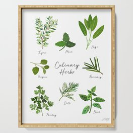 Culinary Herbs Serving Tray