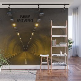Funneling Tunnel with One Way to go KEEP MOVING Motivation Wall Mural