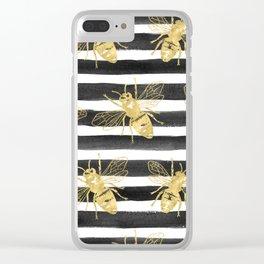 Golden bee noir Clear iPhone Case
