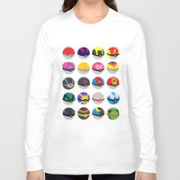 pokeball Long Sleeve T-shirts featuring Pokeball by WSS3 The Paint Project