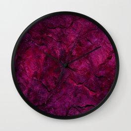 Purple Heavy Metal Wall Clock